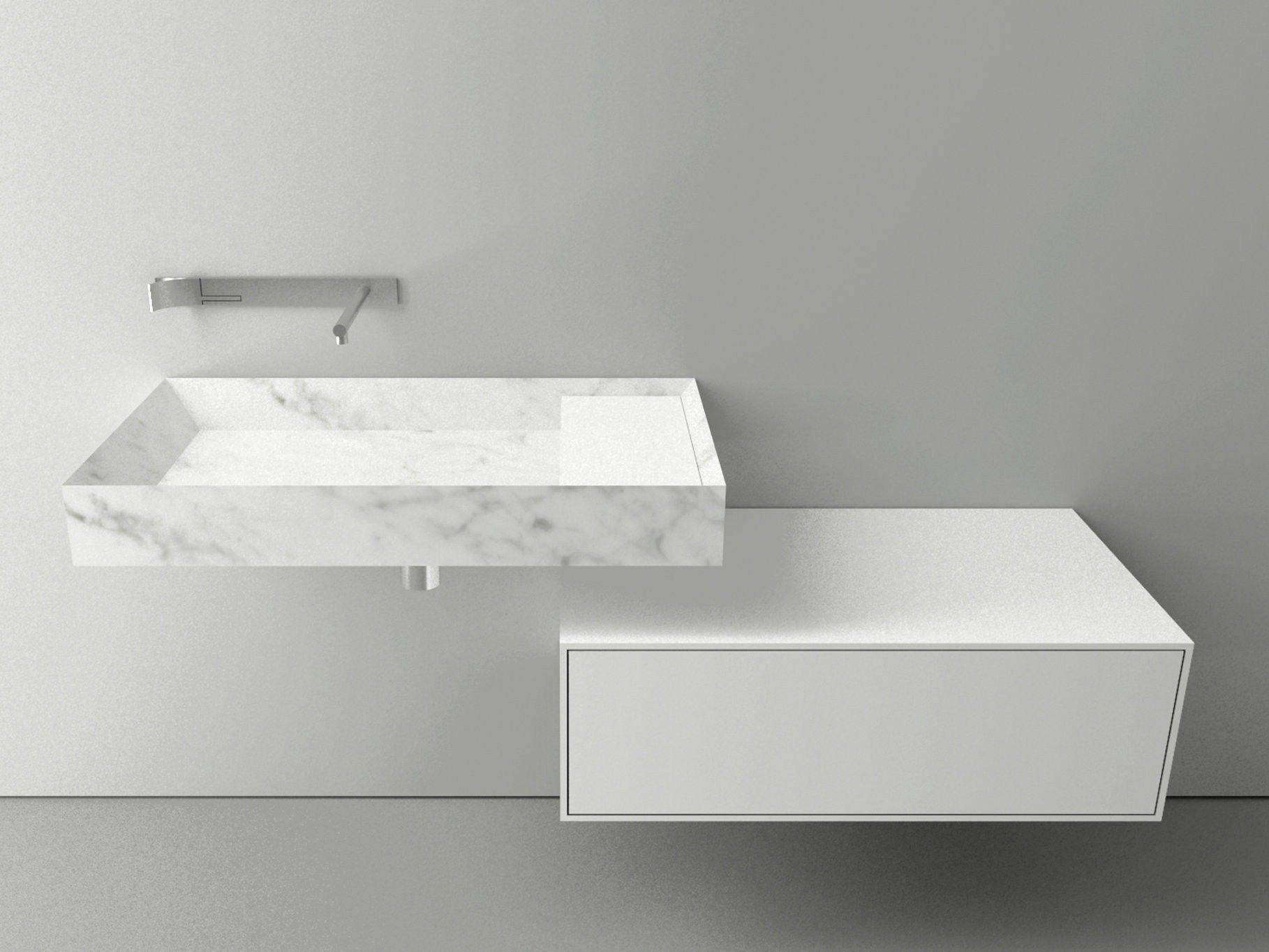 Lavabo singolo sospeso in marmo di carrara a45 stone by for Boffi bagni prezzi