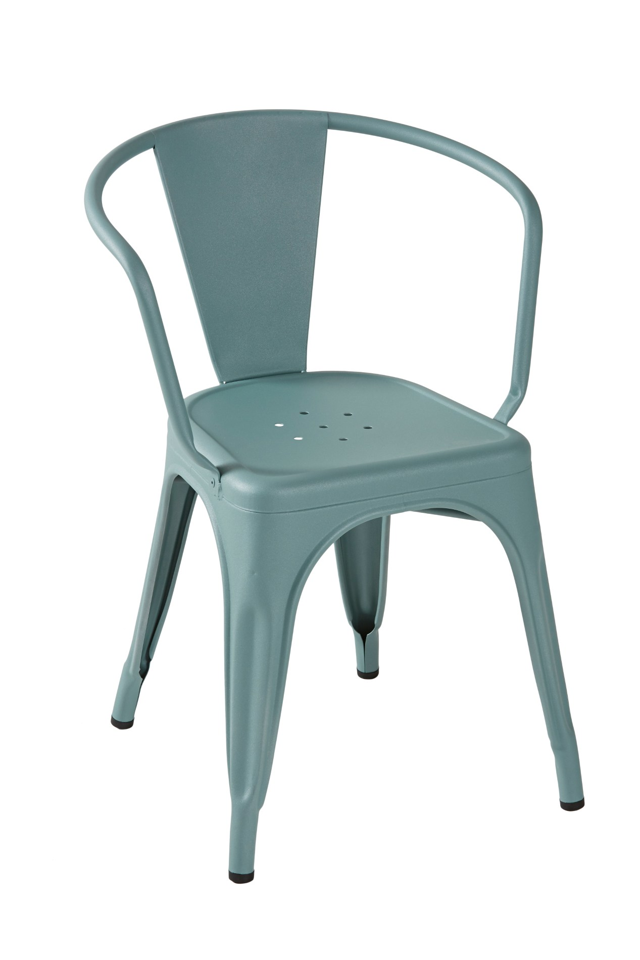 A56 metal chair by tolix steel design design jean pauchard for Metal design chair