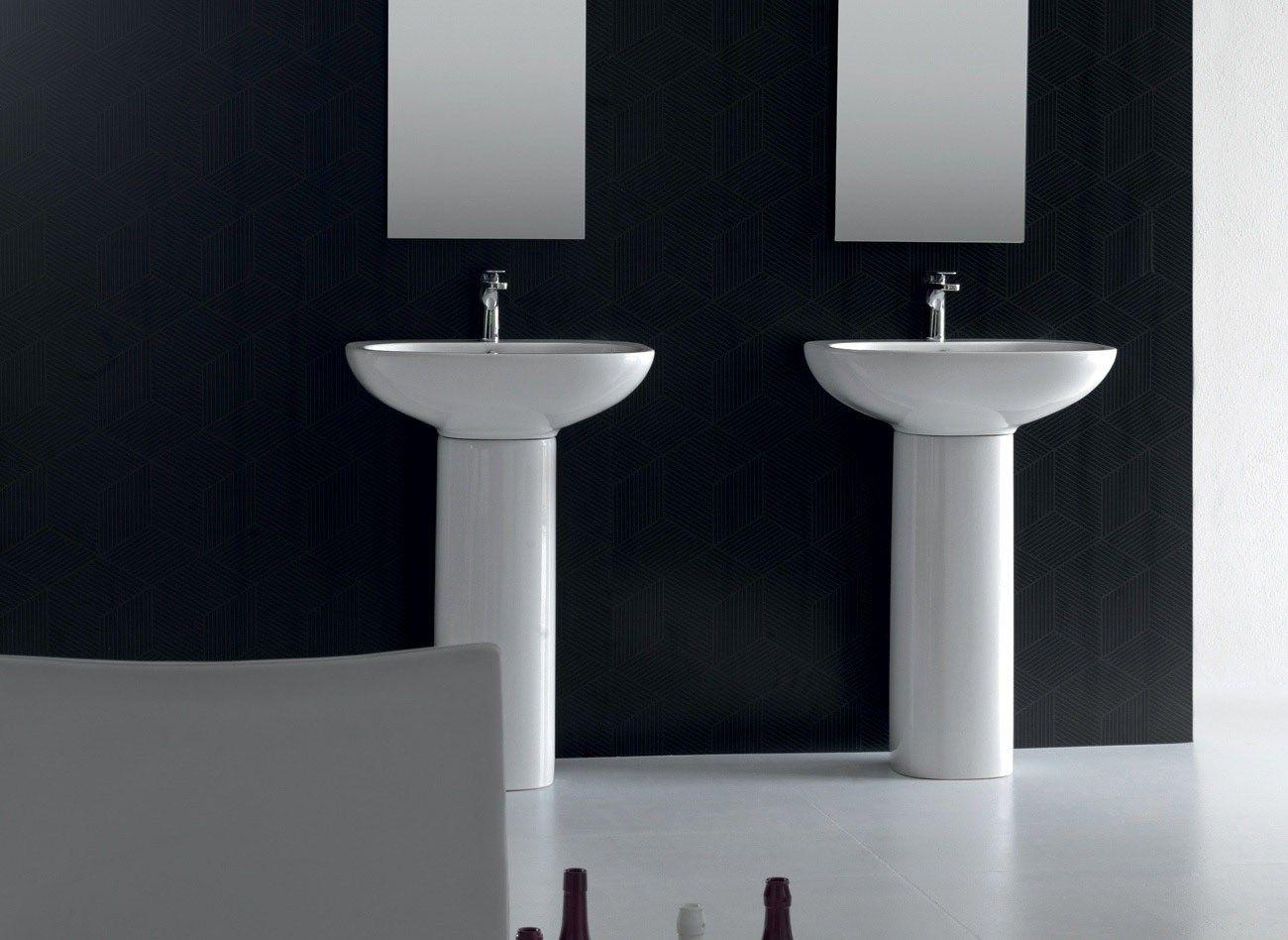 Abc lavabo su colonna by hidra ceramica for Lavabo a colonna