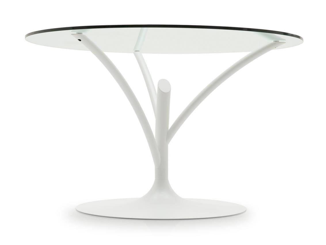 Acacia by calligaris design marcello ziliani for Tavolo vetro bianco calligaris