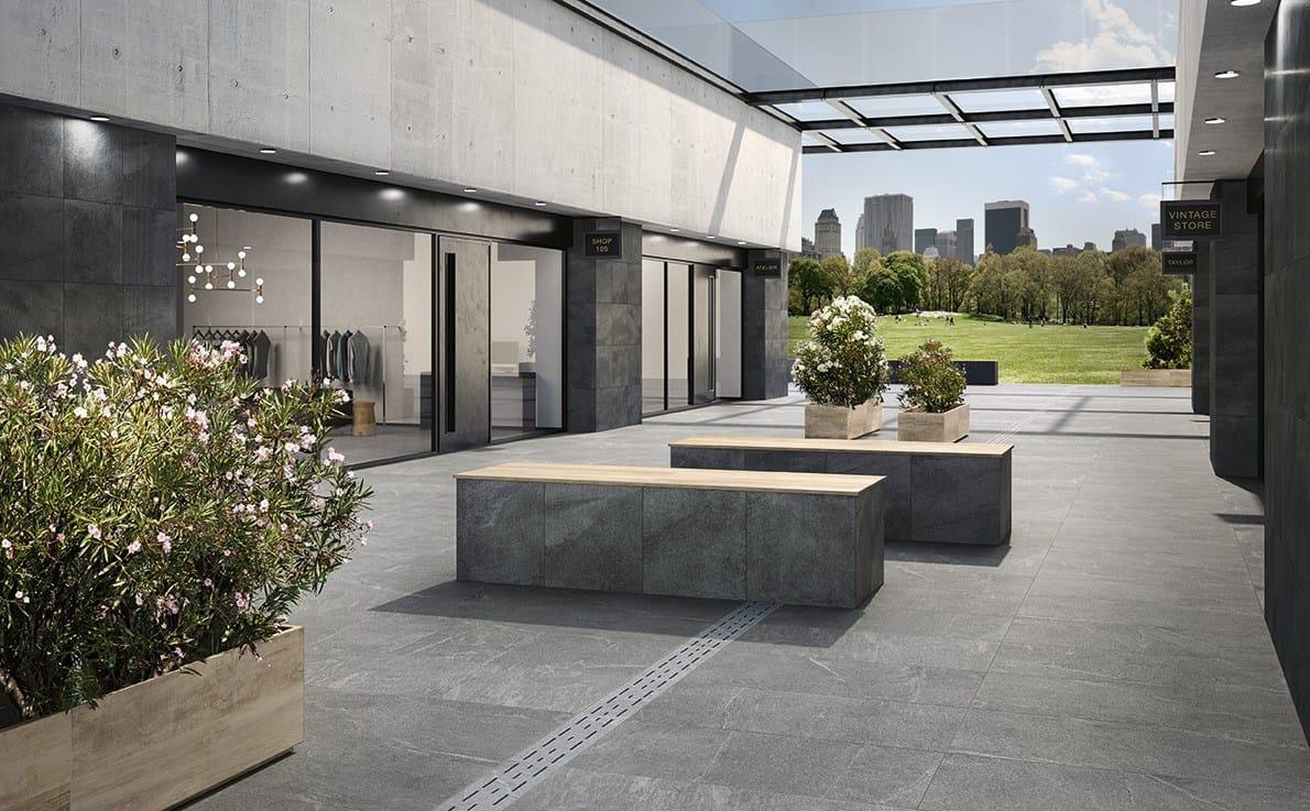 porcelain stoneware modular system for raised flooring. Black Bedroom Furniture Sets. Home Design Ideas