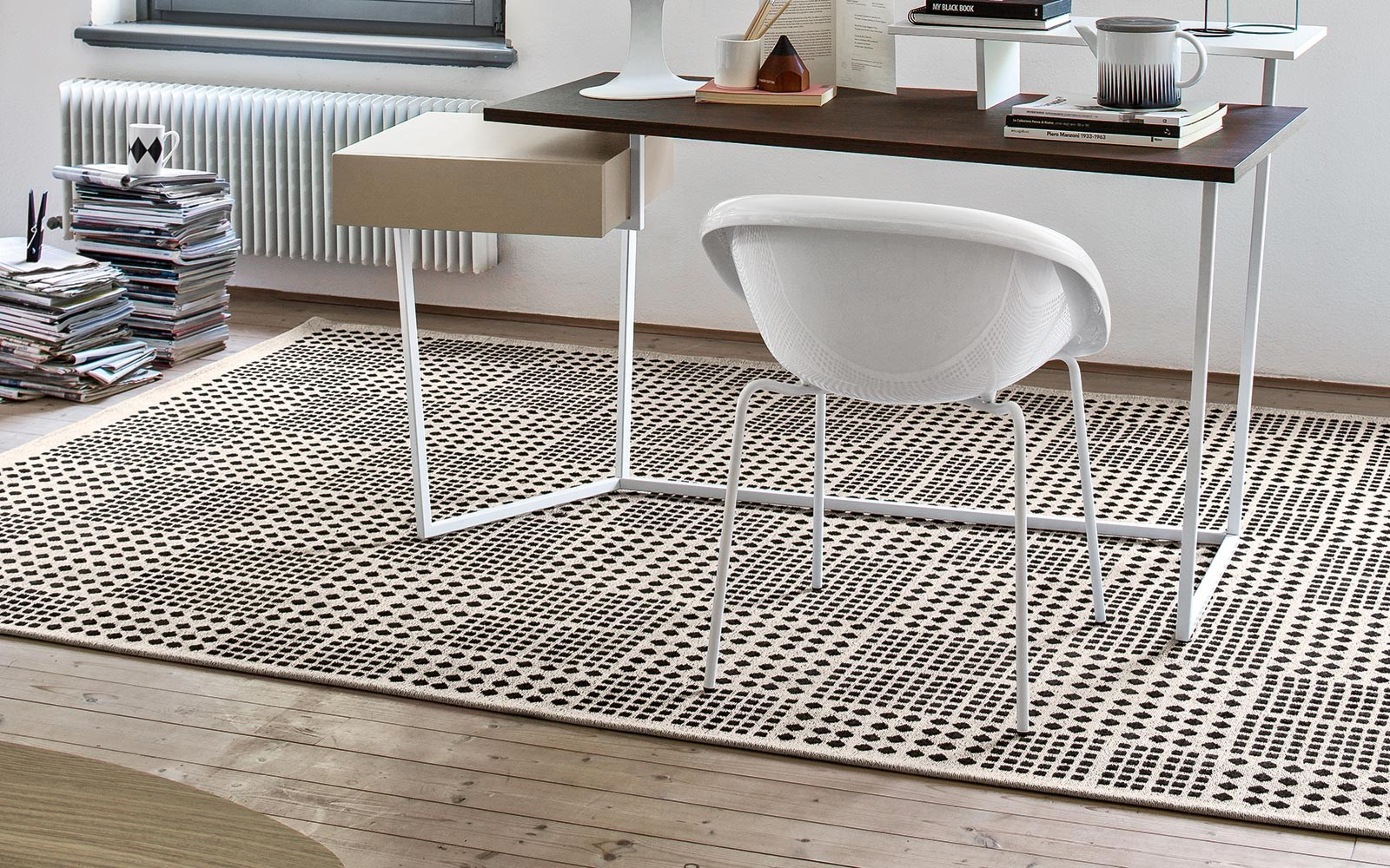 tappeto a motivi geometrici africa by calligaris design