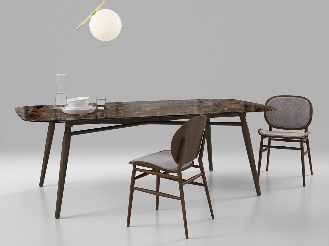 Rectangular Marble Dining Table Agave By Alivar Design