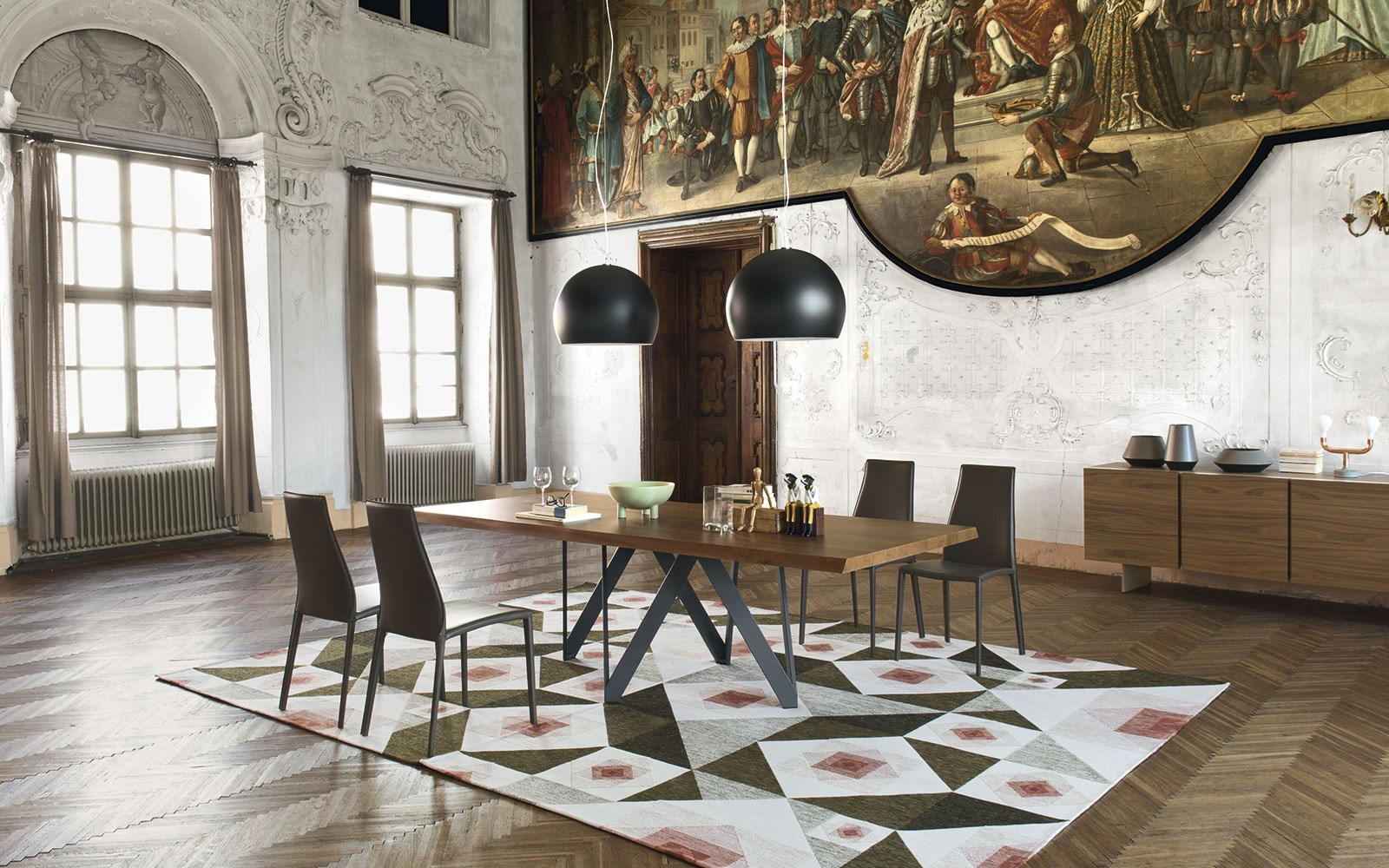 Sedia in cuoio aida plus by calligaris design studio 28 for Tavolo vero calligaris