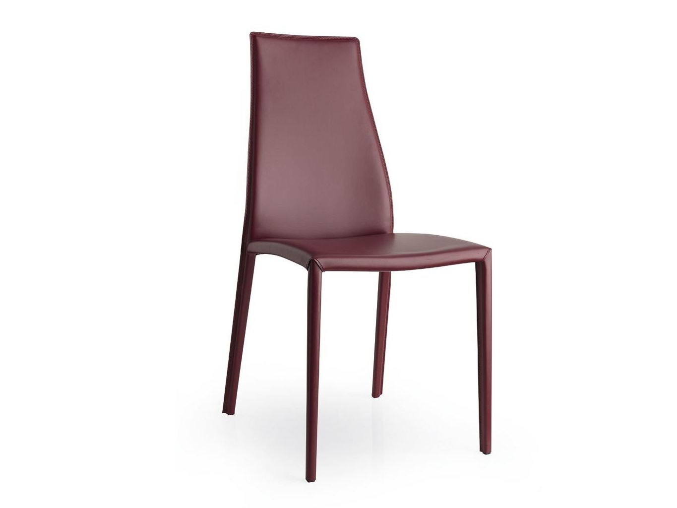 Sedia in cuoio aida plus by calligaris design studio 28 for Sedie design 3d
