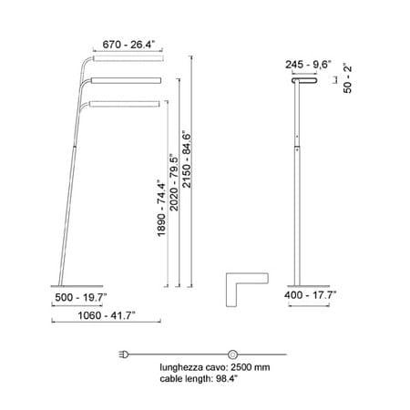 floor lamp airlight by quadrifoglio sistemi d 39 arredo