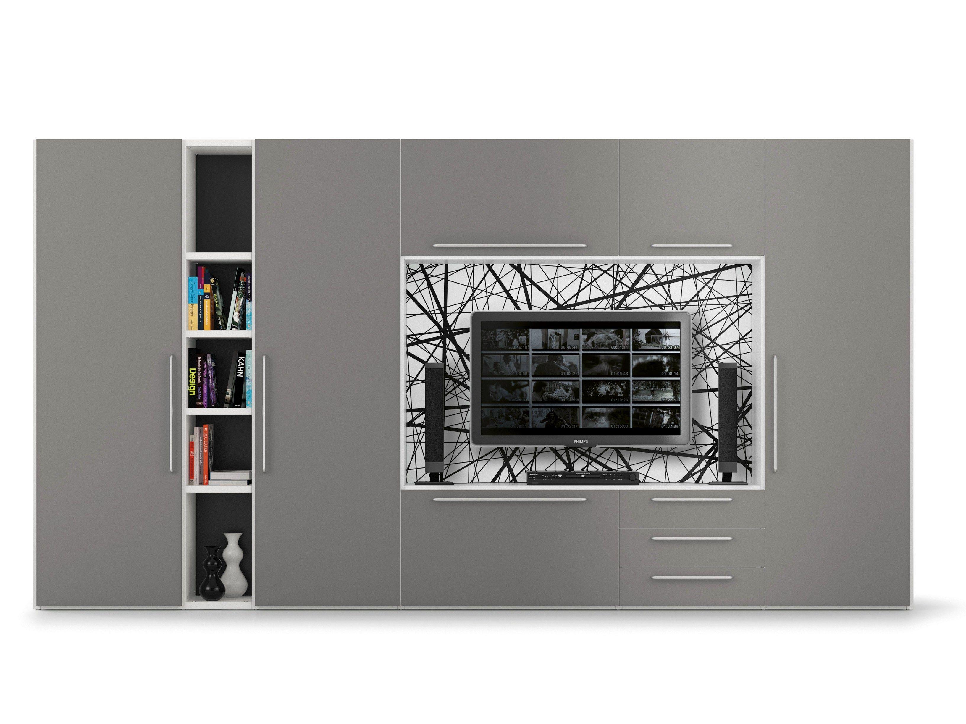ALFABETO TV wall system by De Rosso