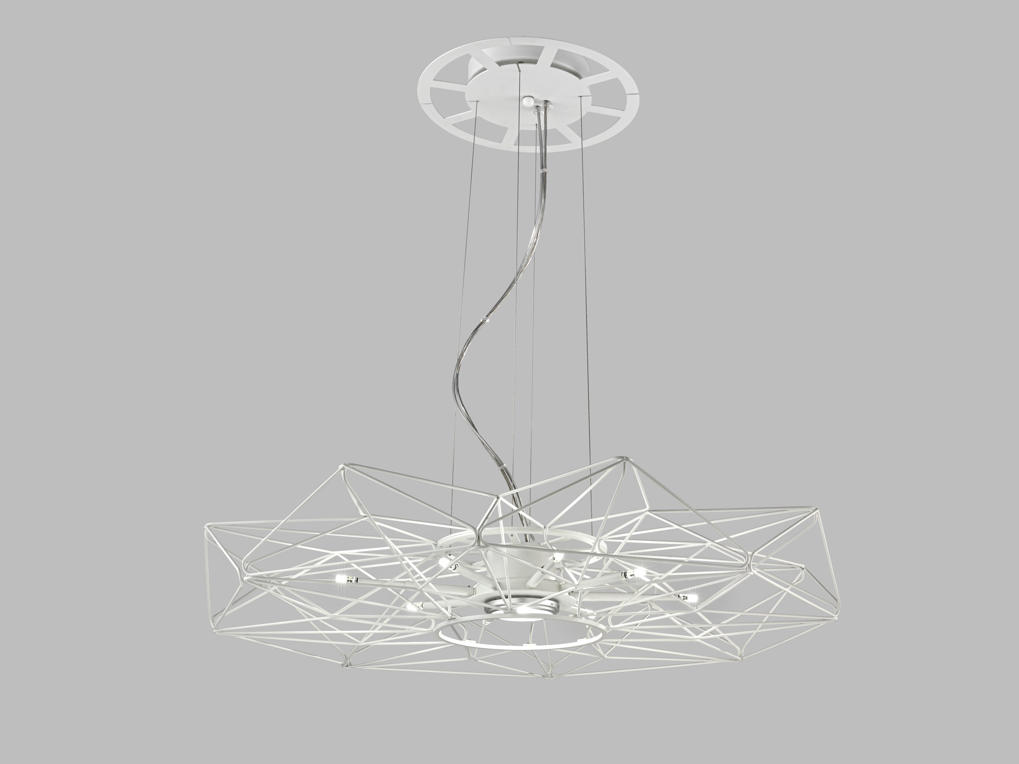 LED painted metal pendant lamp ALTATENSIONE By Metal Lux ...