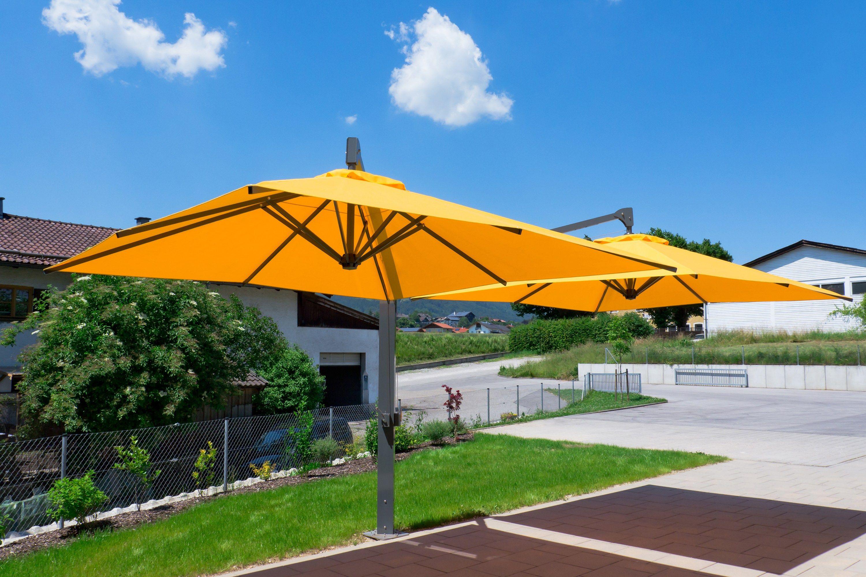 amalfi duo double garden umbrella by michael caravita. Black Bedroom Furniture Sets. Home Design Ideas