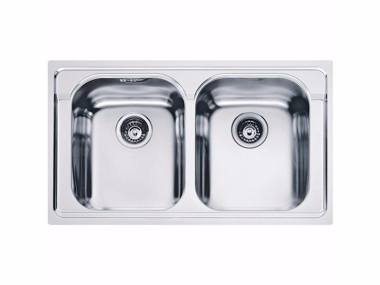 Lavello a 2 vasche da incasso in acciaio inox amx 620 by franke - Lavandino incasso cucina ...