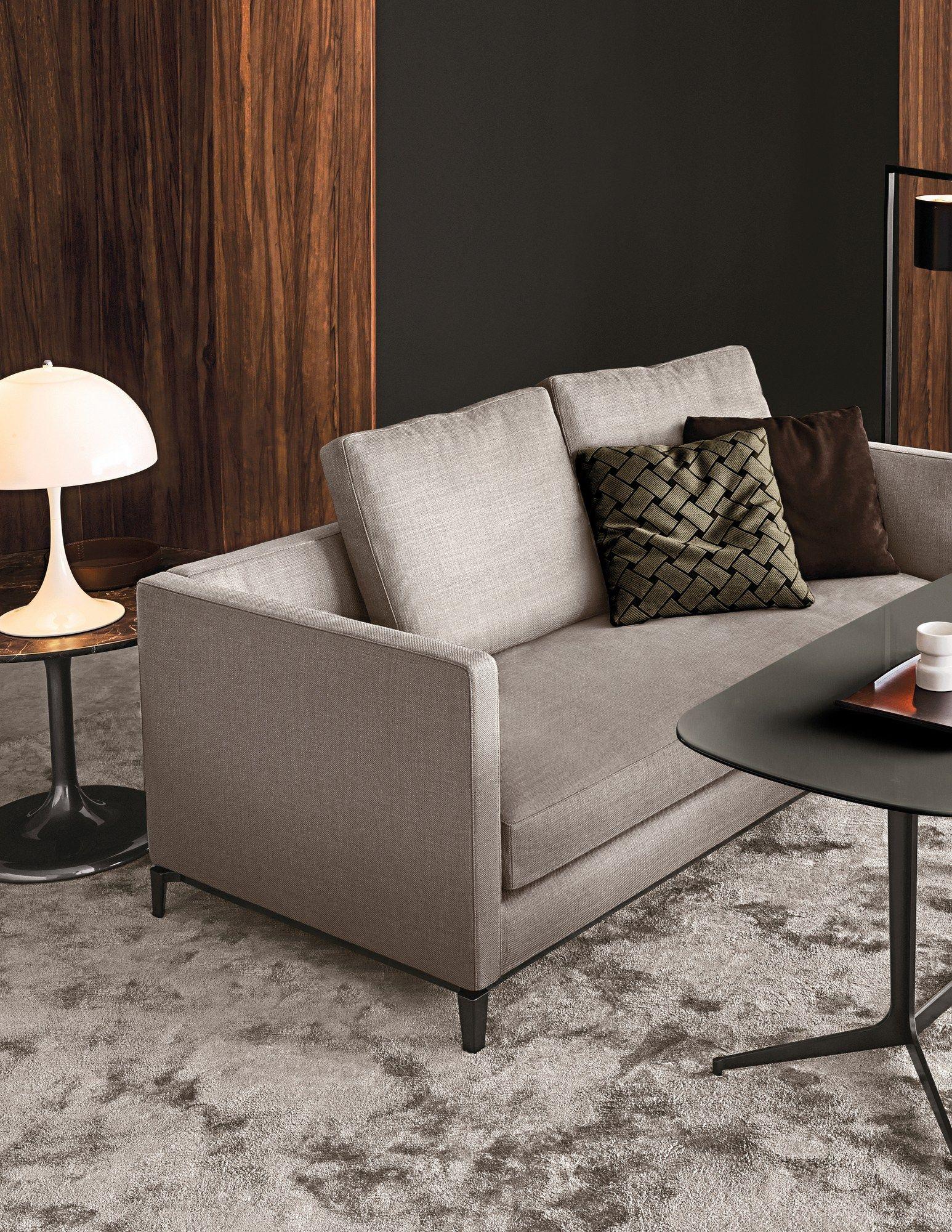 Andersen slim 90 andersen slim 90 quilt by minotti design for Sofa 90 cm sitztiefe