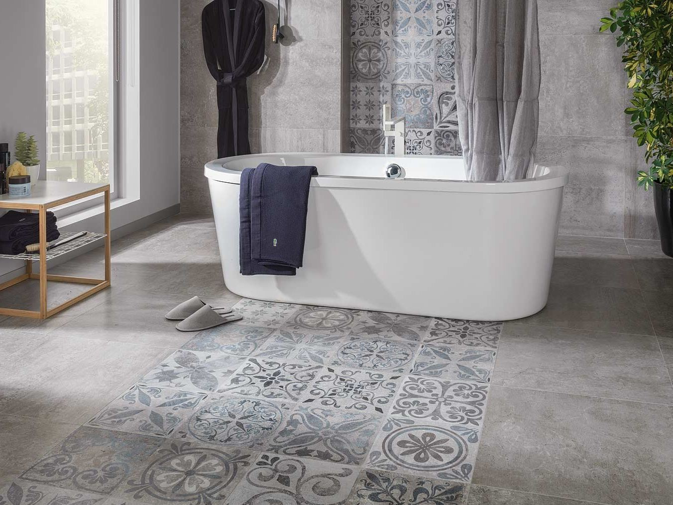 Rev tement de sol mur ston ker antique by porcelanosa - Suelos hidraulicos porcelanosa ...