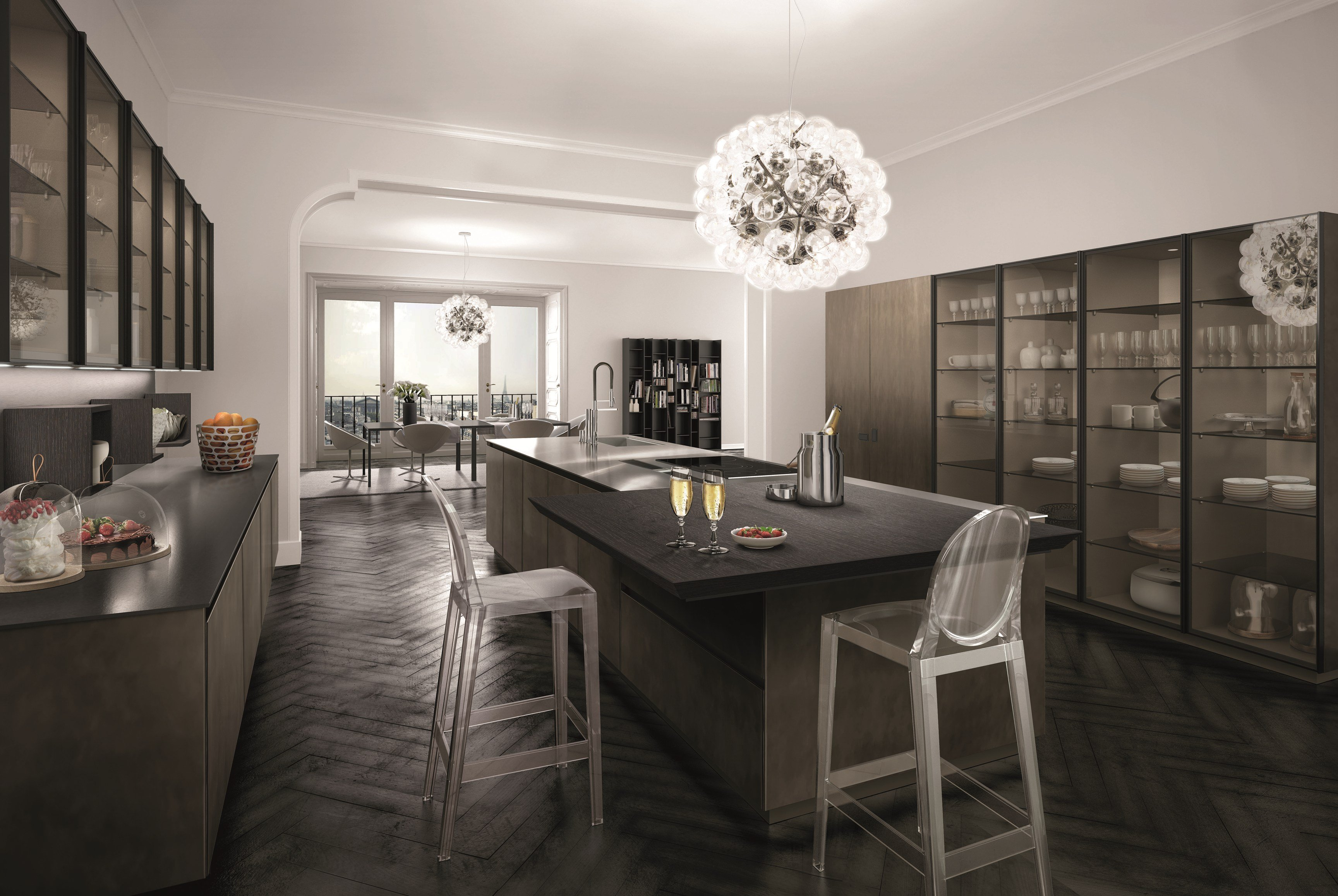 lacquered fitted kitchen antis fusion euromobil antis fusion fitted kitchens euromobil