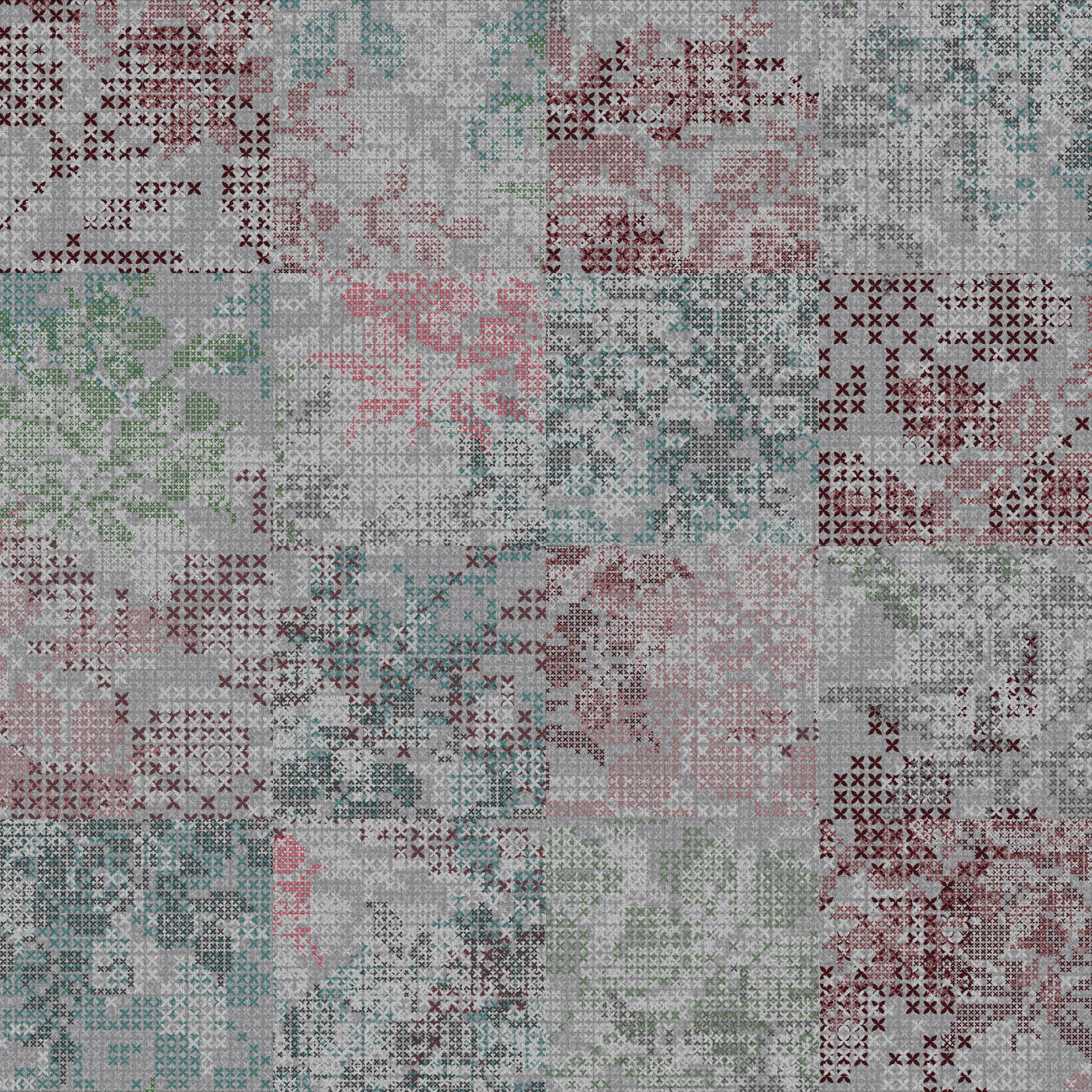 Patterned plastic carpet tiles ANTWERP by OBJECT CARPET