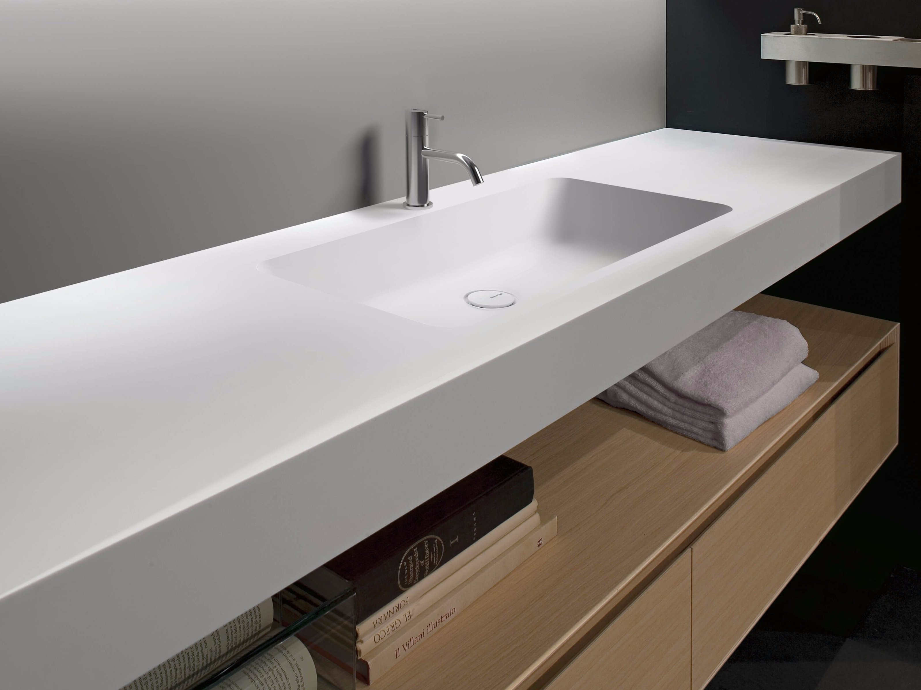 Waschtisch aus corian arco by antonio lupi design design for Design waschtisch