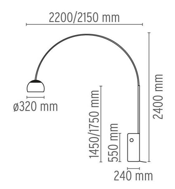 Arco Lampada Da Terra Design By Flos