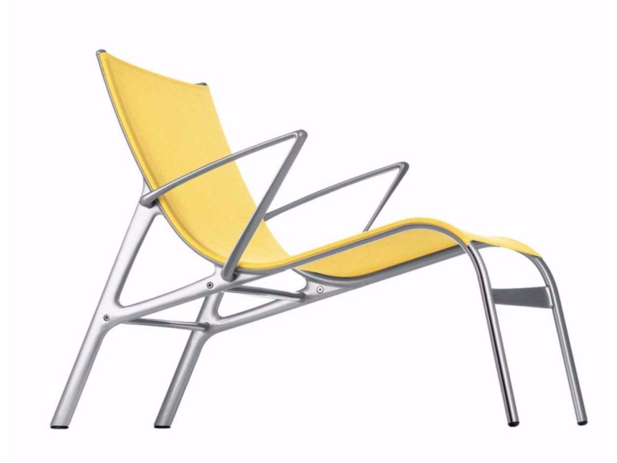 Mesh lounge chair ARMFRAME 438 O by Alias design Alberto Meda