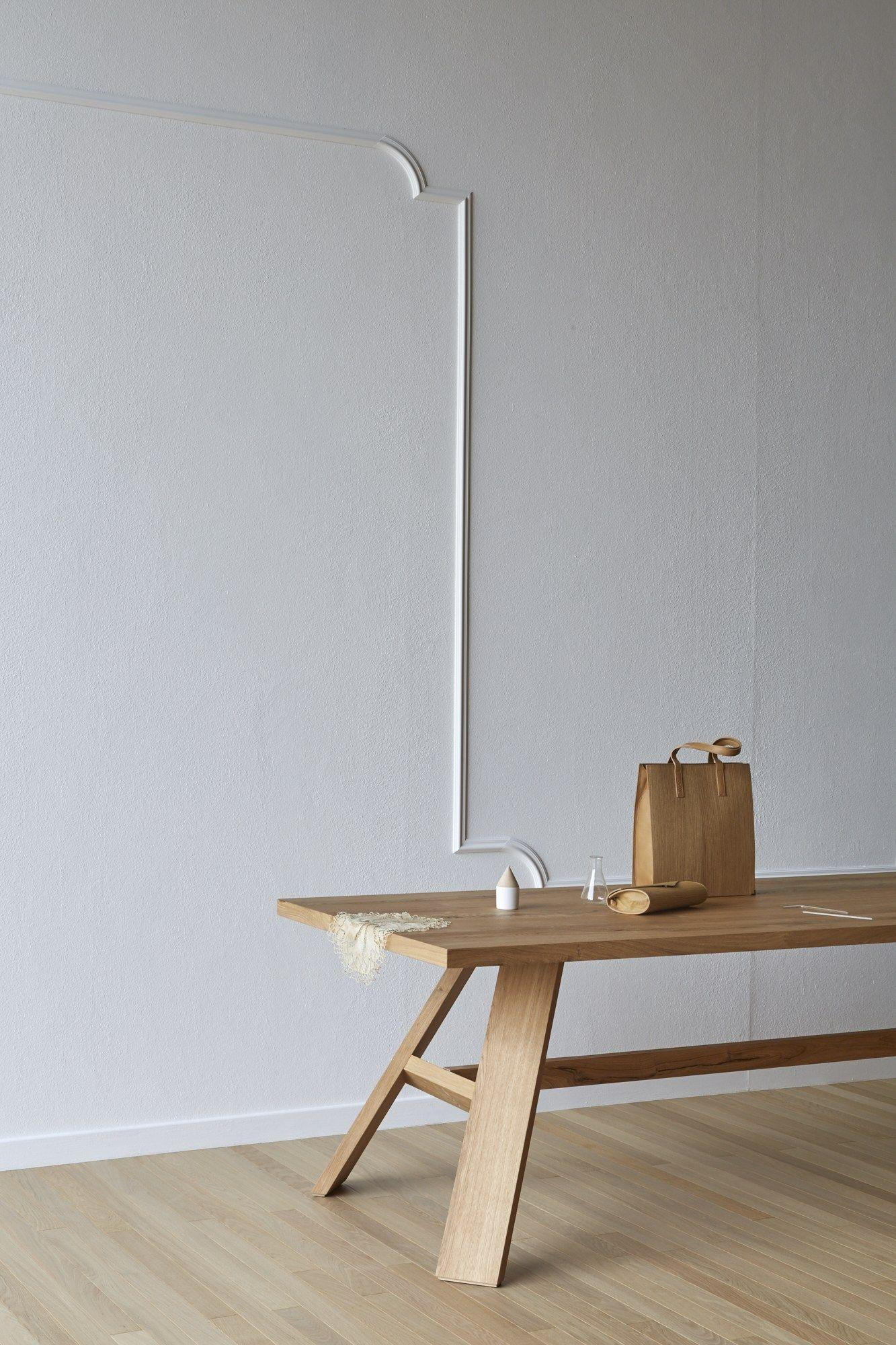 Tavolo rettangolare in rovere artigiano by miniforms for Tavolo rettangolare design