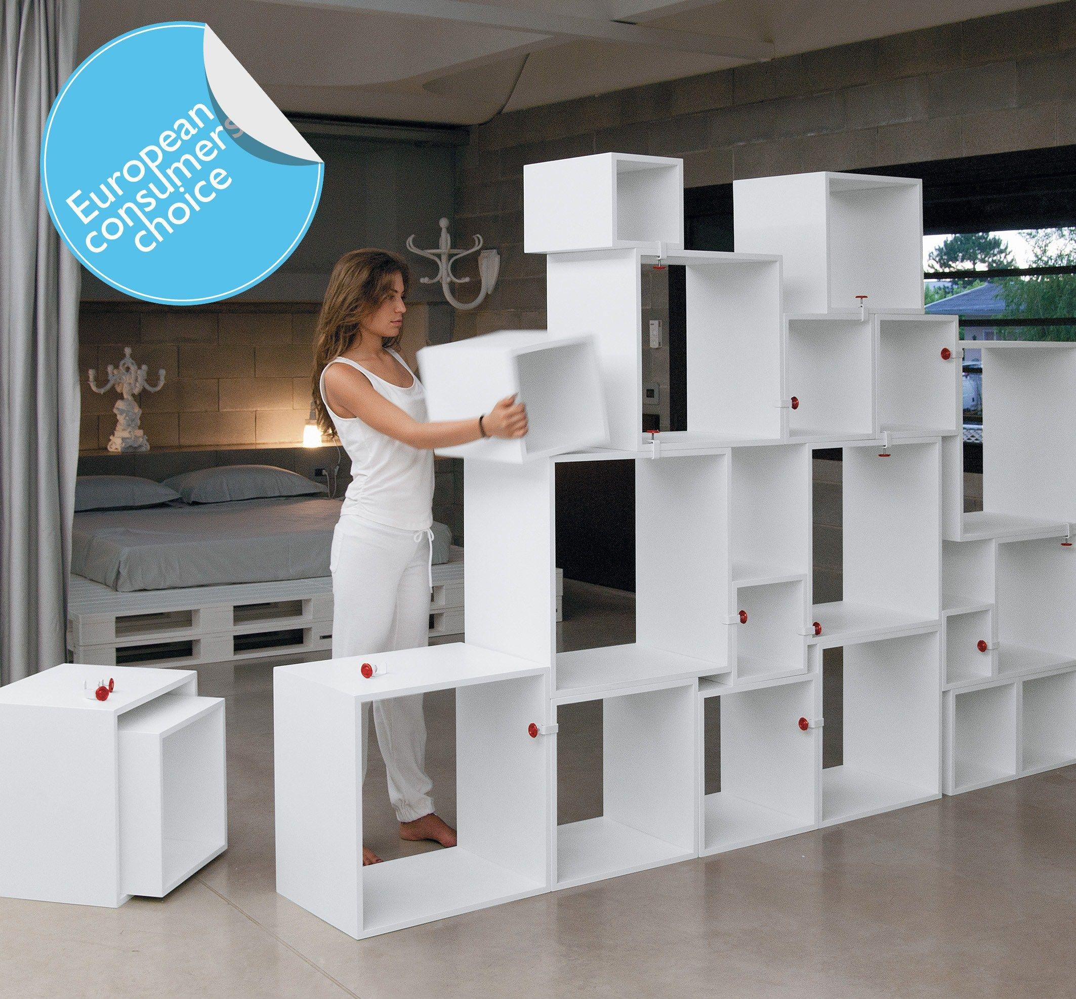 Libreria componibile assemblage by seletti design selab for Cubi arredamento componibili