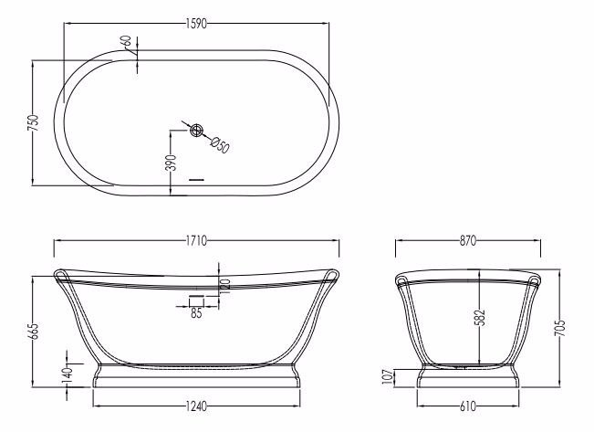 Dimensioni vasca da bagno ispirazione design casa - Misure vasca da bagno ...