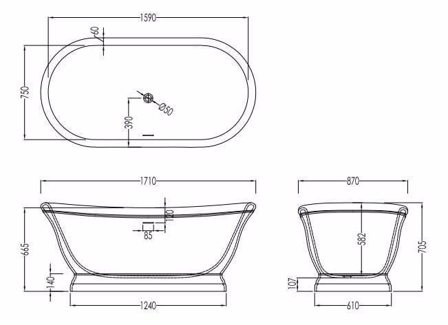 Misure standard vasca da bagno la scelta giusta - Misure vasca bagno ...