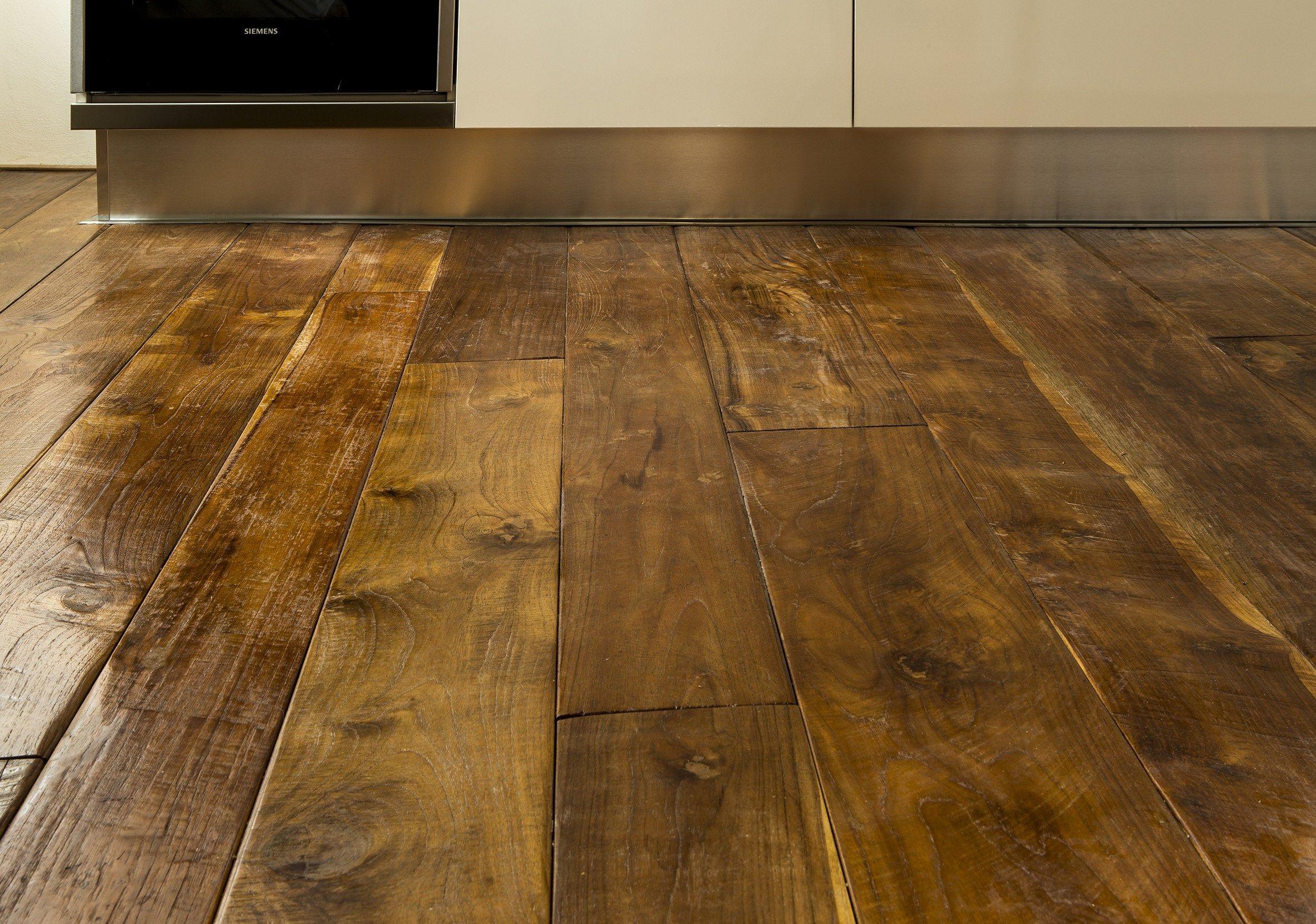 Teak wood floor tiles