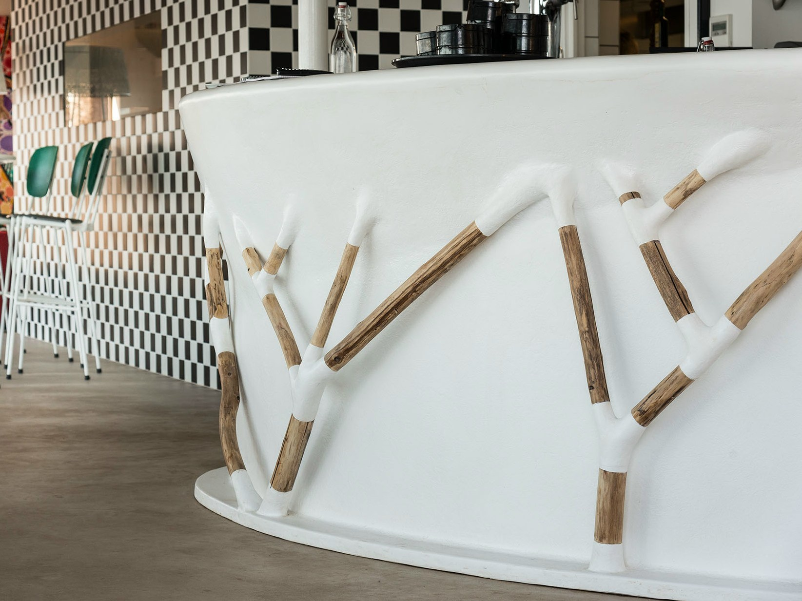 bancone bar bar branches by binome design ingrid michel. Black Bedroom Furniture Sets. Home Design Ideas
