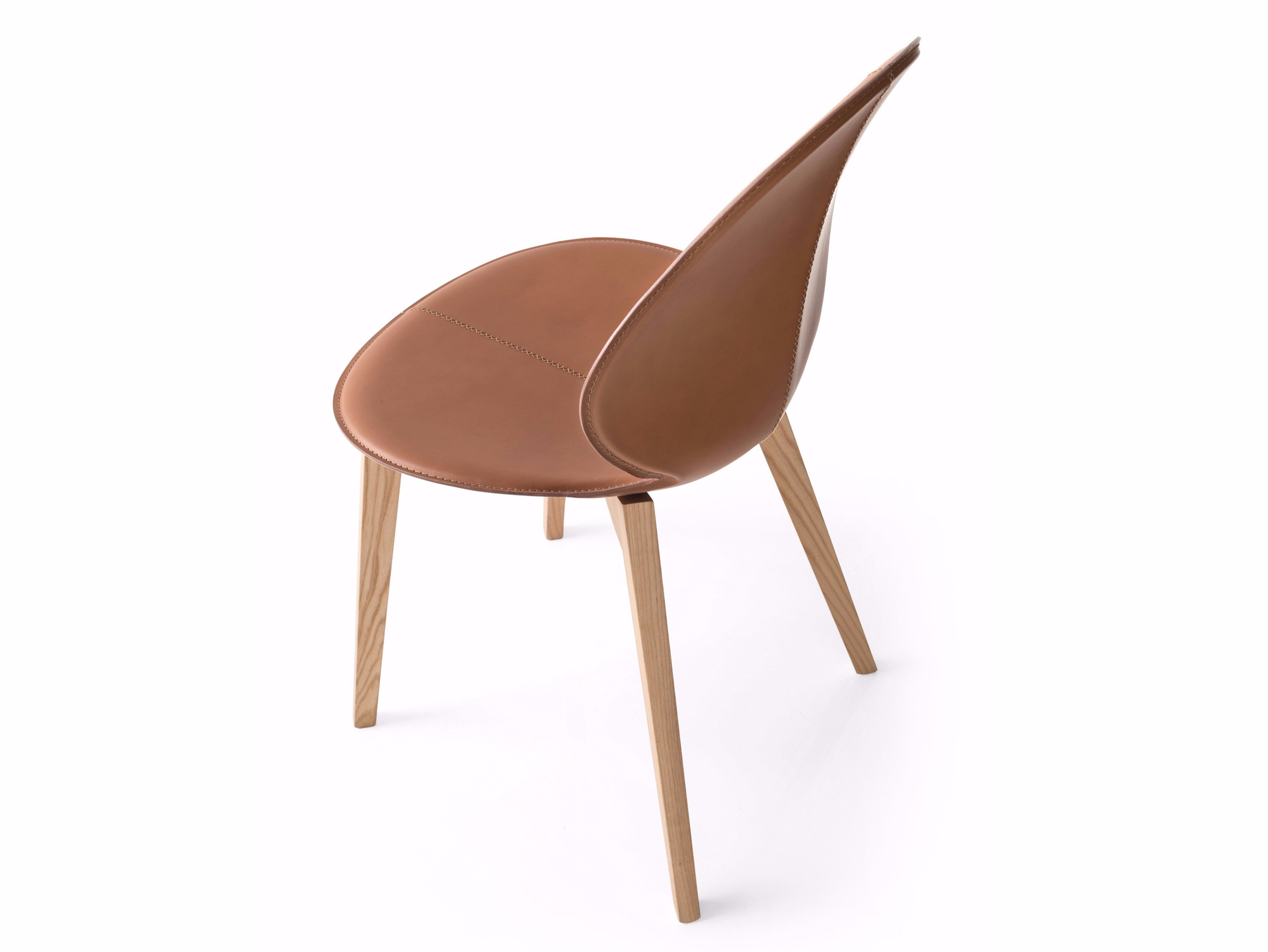 Upholstered tanned leather chair basil w by calligaris for Calligaris basil w