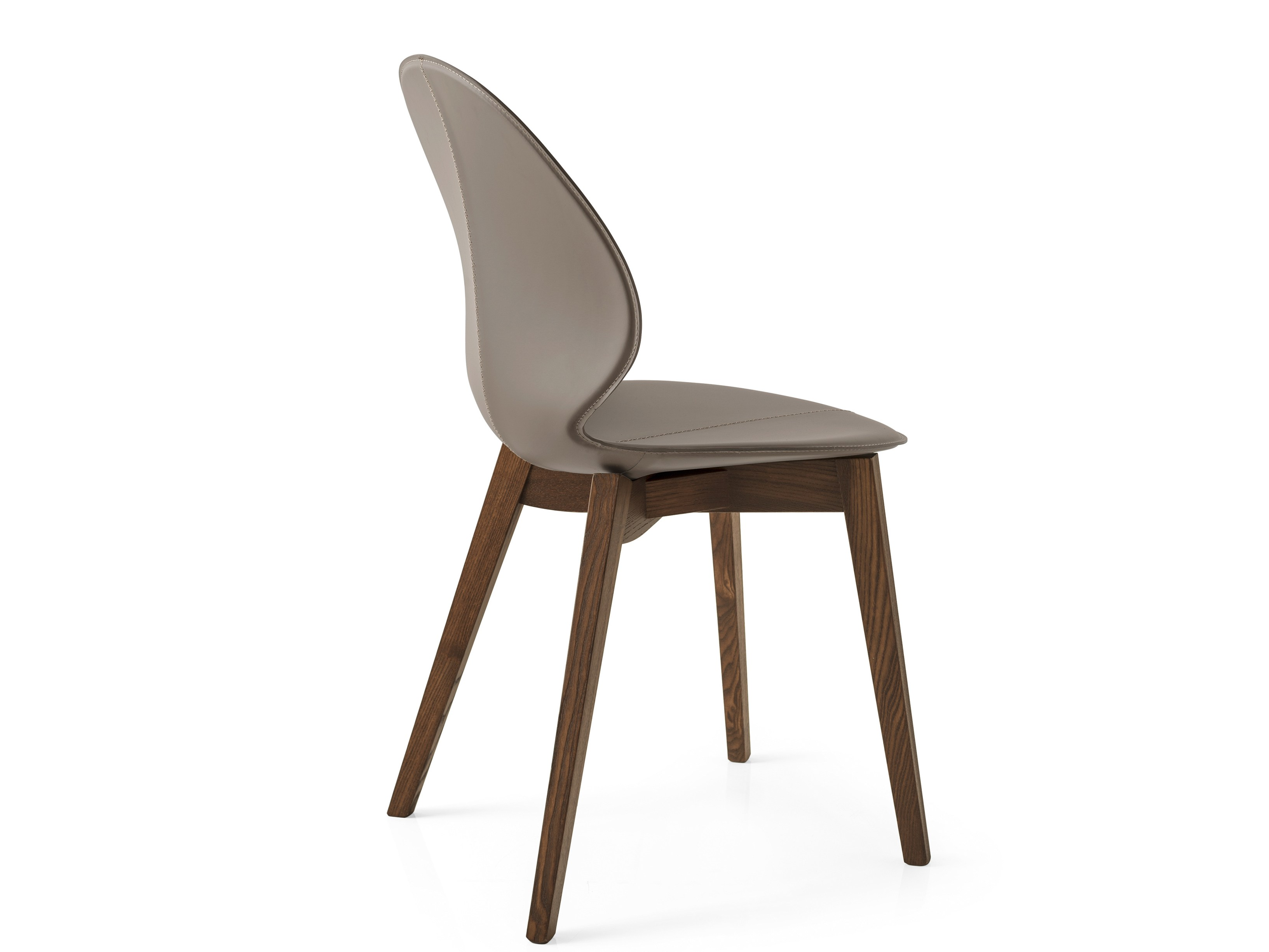 Upholstered tanned leather chair basil w by calligaris for Calligaris sedie