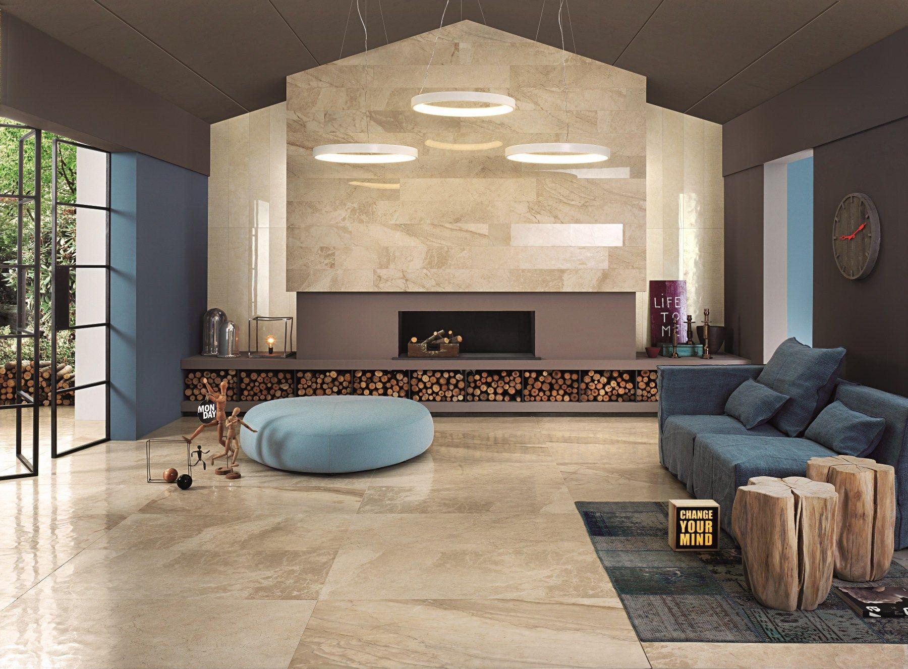 Revestimiento de pared suelo de gres porcel nico efecto for Paredes ceramica interiores