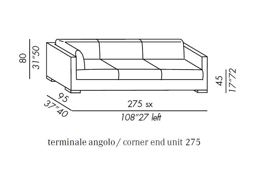 Modular sofa with removable cover BELMON MODULAR by Meridiani