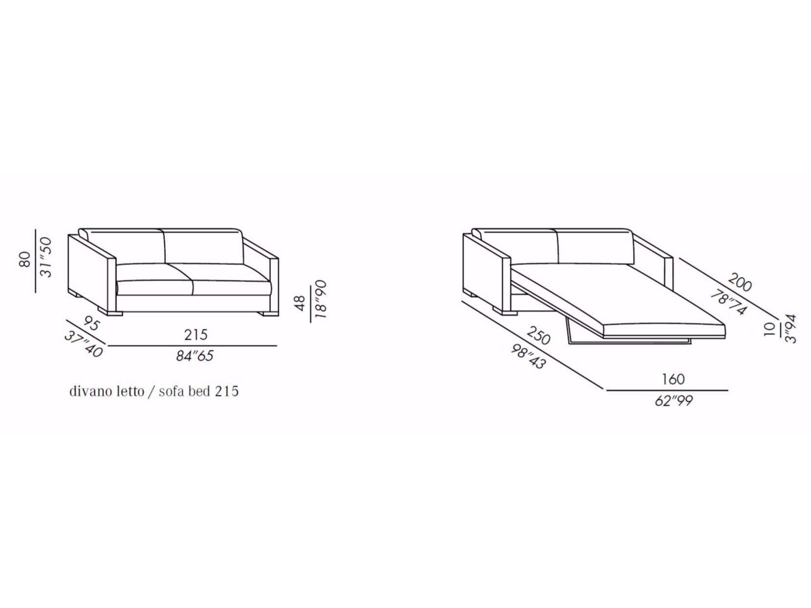 Dimension canape lit maison design wibliacom for Sofa bed dimensions unfolded