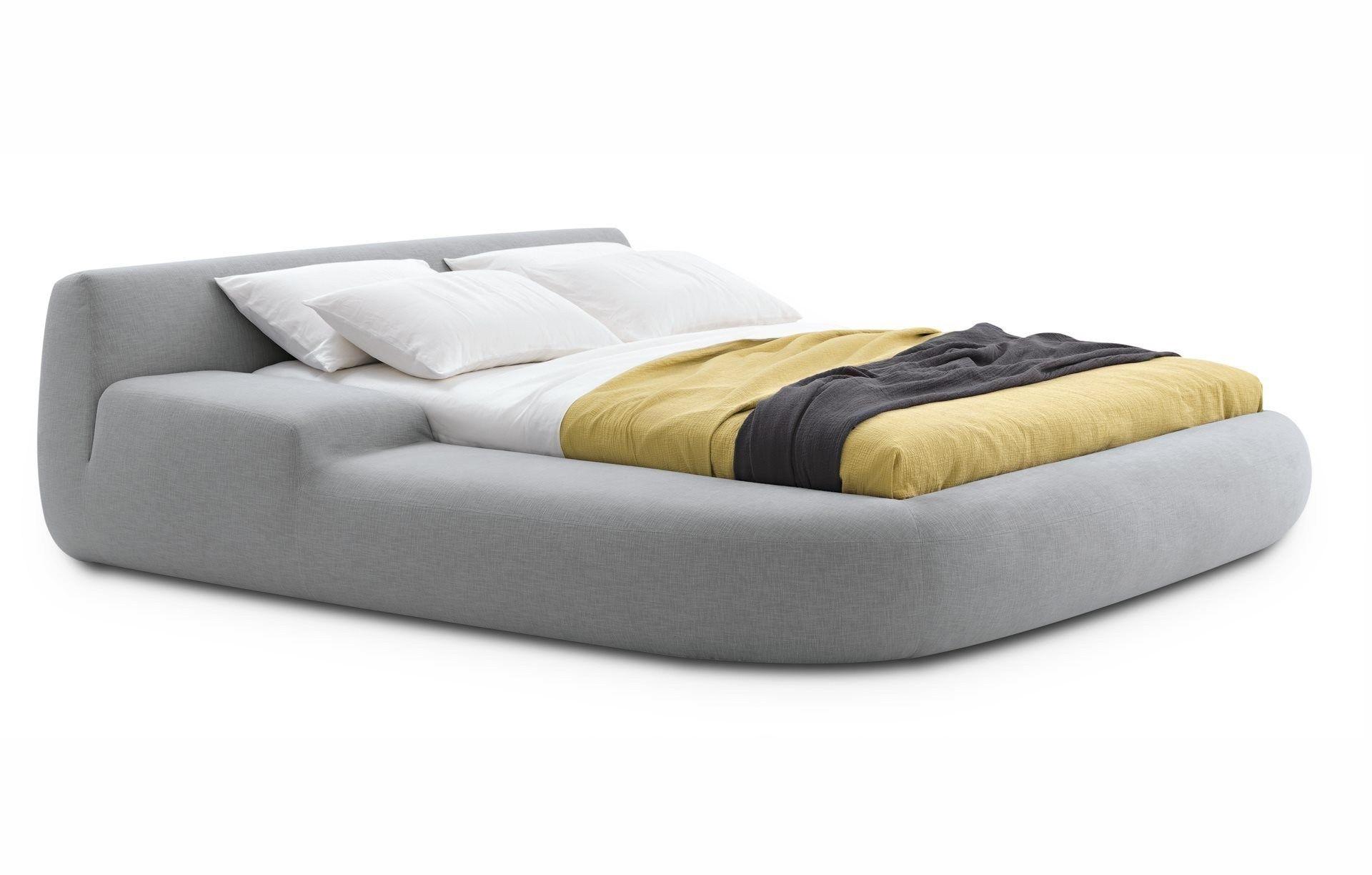 Letto imbottito matrimoniale sfoderabile in tessuto BIG BED by ...