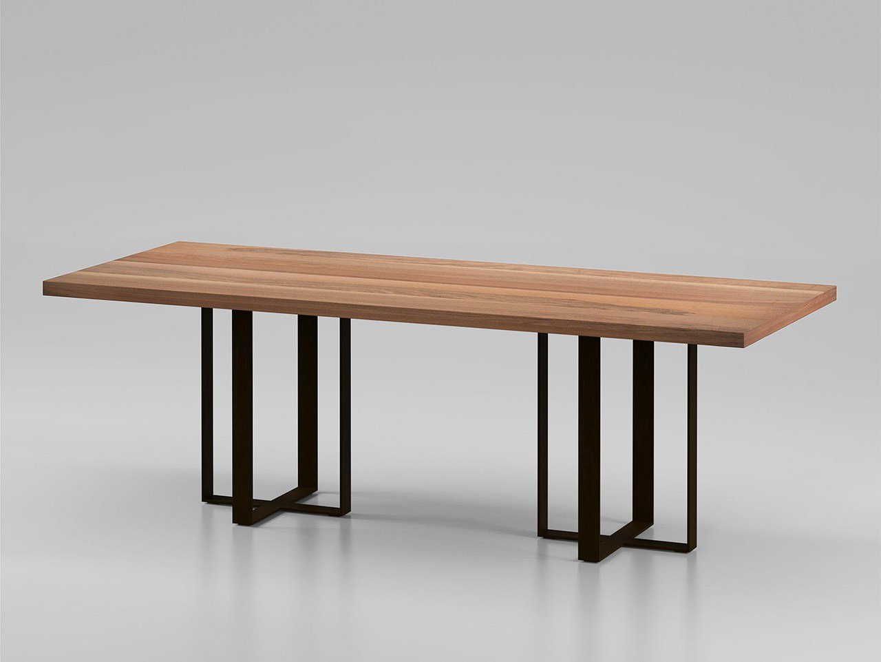 Rectangular Wooden Table Big Table By Alivar Design Roberto Lazzeroni