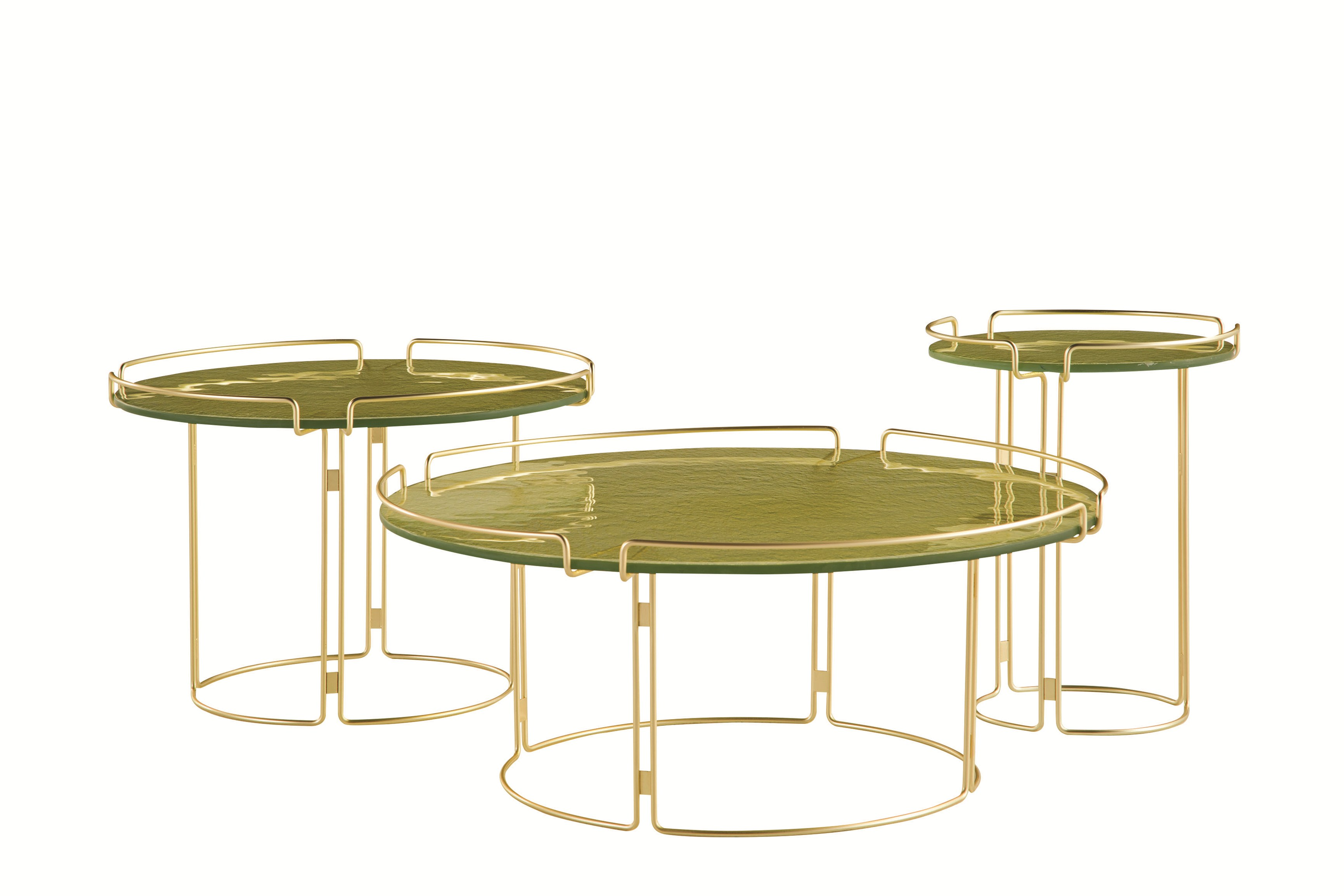 table basse ronde en marbre bijou by roche bobois design