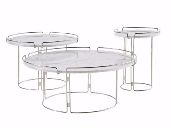 table basse ronde en marbre bijou by roche bobois design. Black Bedroom Furniture Sets. Home Design Ideas