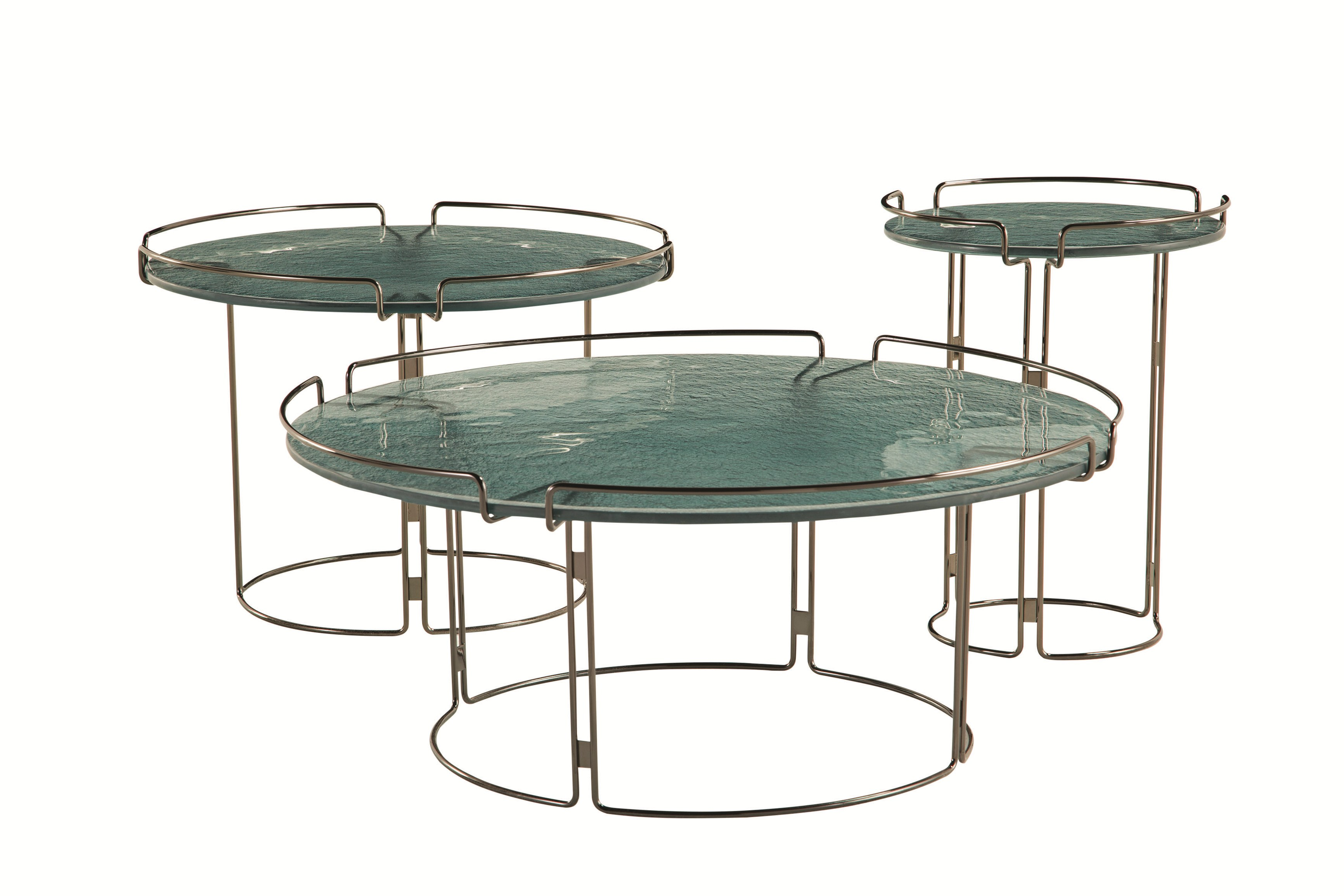 Table basse ronde en marbre bijou by roche bobois design - Table ronde en marbre ...