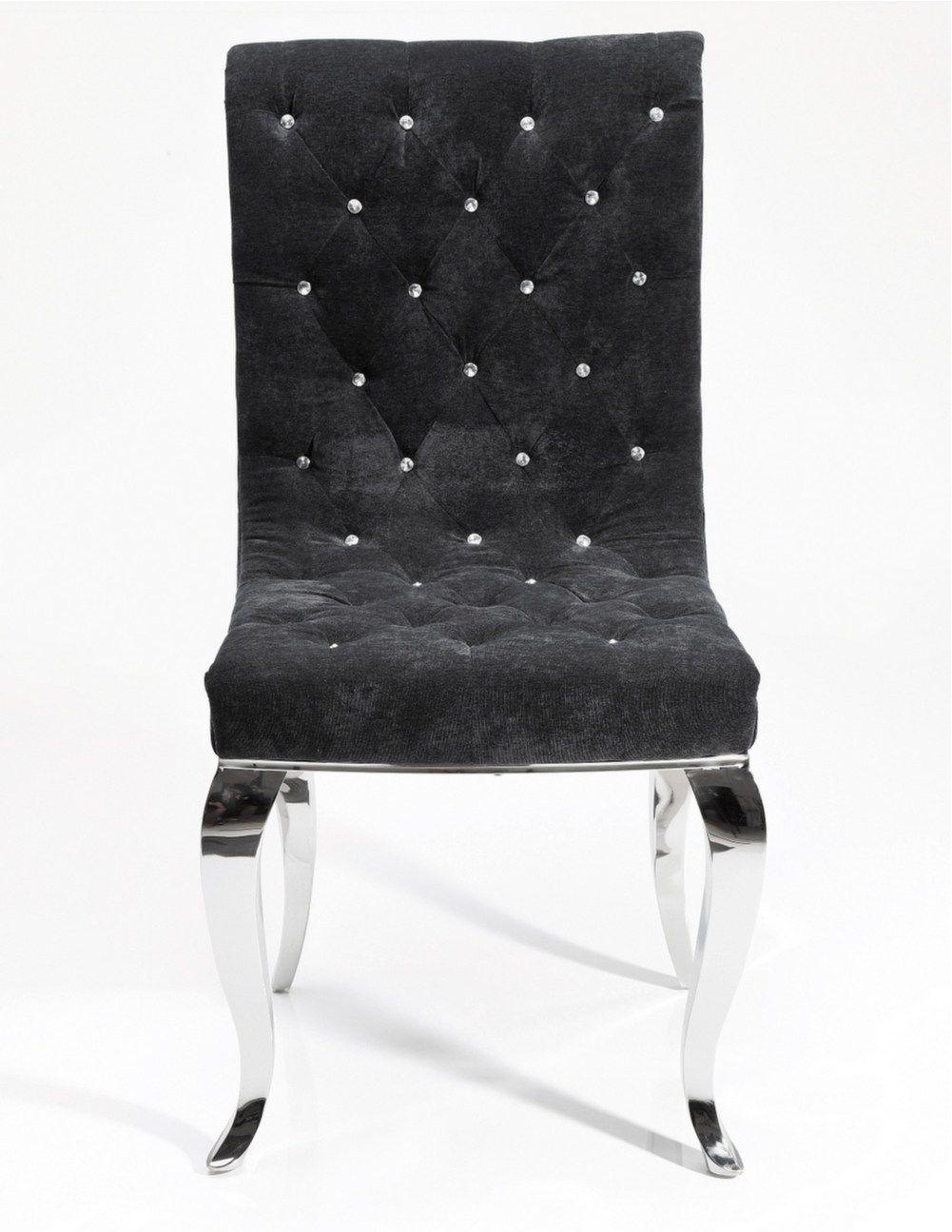 Sedia capitonn in tessuto bijou steel sedia kare design for Kare design tisch bijou steel