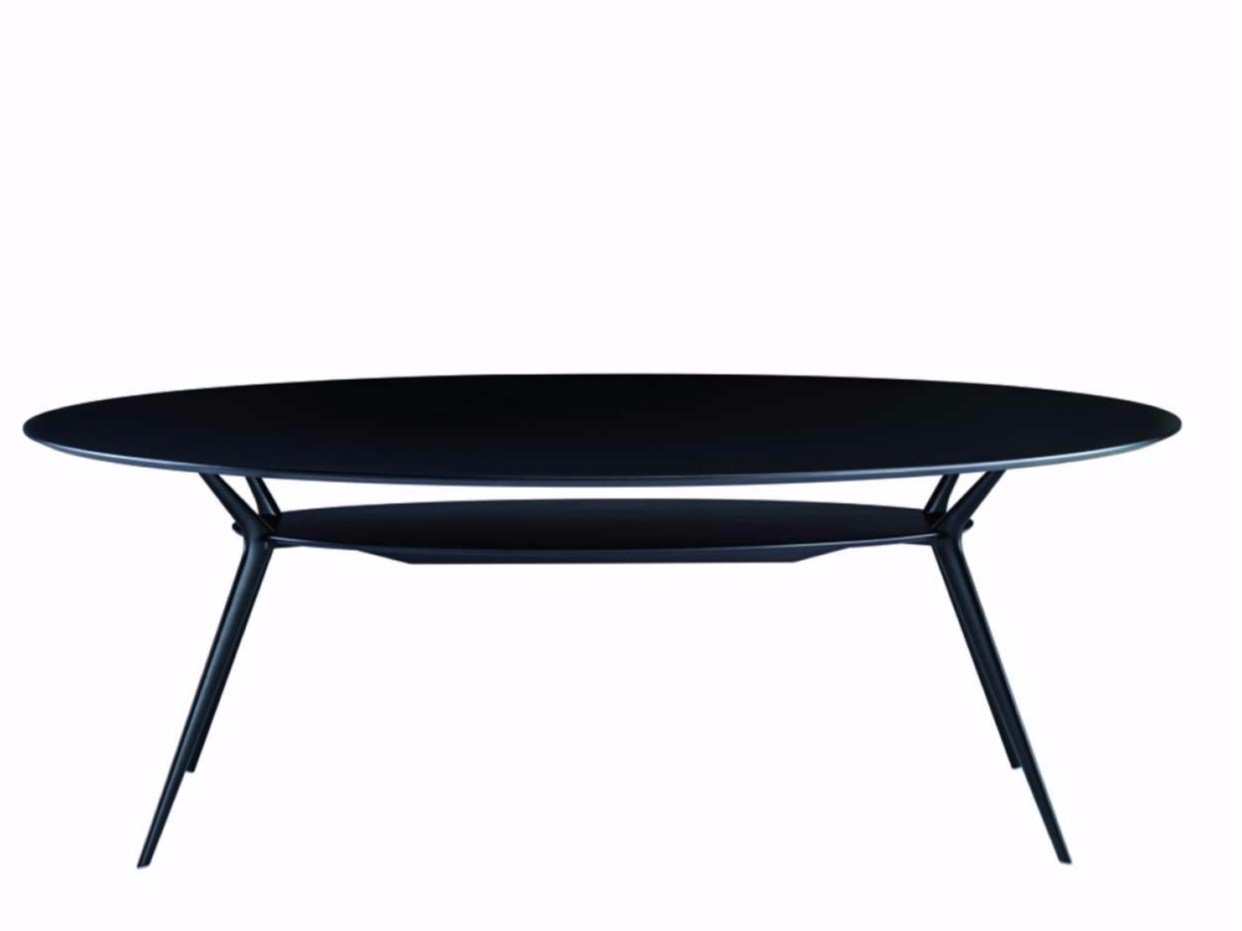 Lacquered oval table biplane 407 by alias design alberto for Table design oval