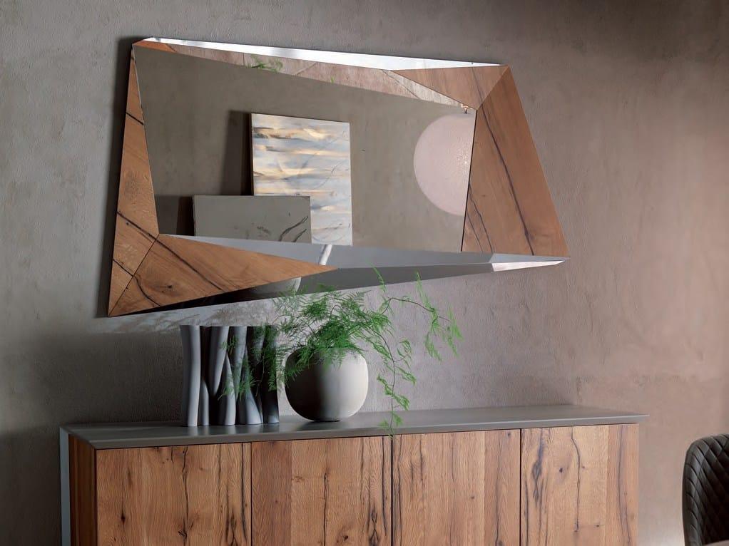 Specchio a parete con cornice bixy by ozzio italia design - Specchio a parete ...