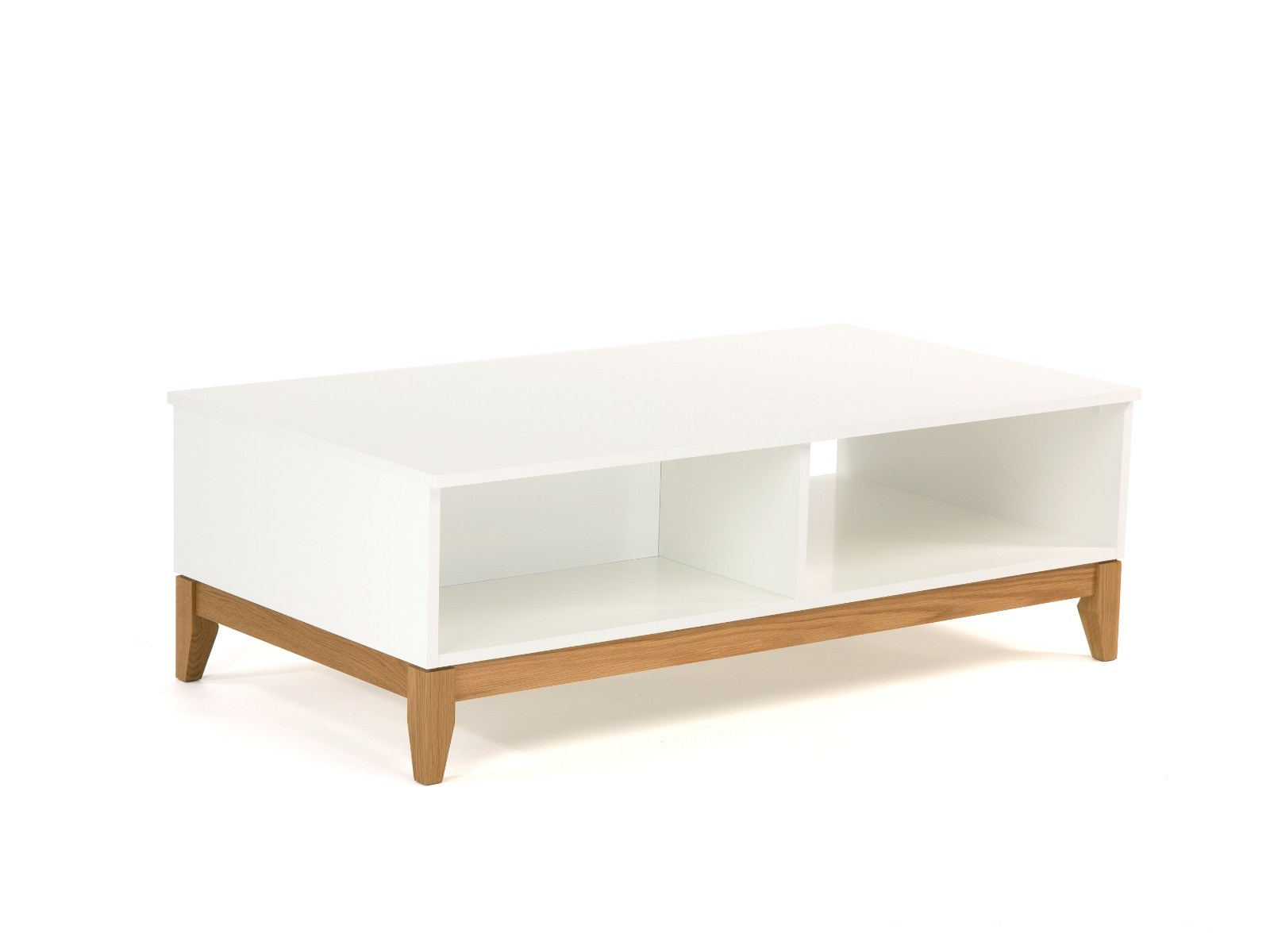 Lacquered coffee table with storage space BLANCO Coffee table  #6E4C26