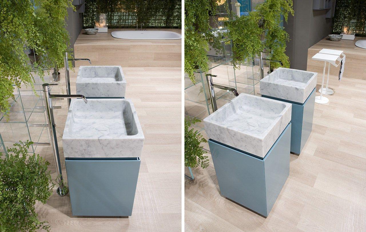 Blokko by antonio lupi design for Meuble vasque sur pied