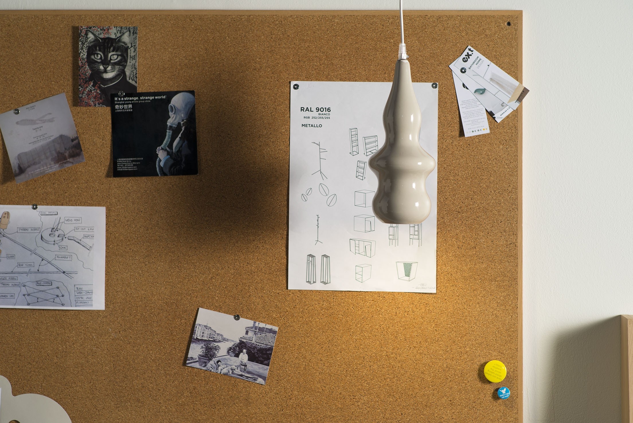 Lampada Tubino Castiglioni: Faretto doccia ip cricket collezione by fabbian design.