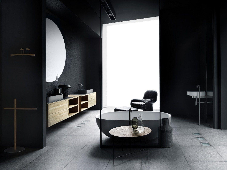 Mobile lavabo singolo sospeso boffi code bathroom by boffi for Bathroom design products