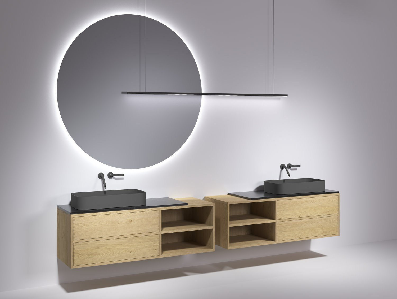 Mobile lavabo singolo sospeso boffi code bathroom by boffi for Boffi salle de bain