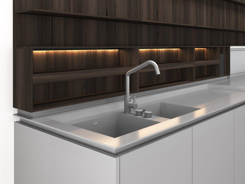 Configurazione Isola In Legno Boffi Code Kitchen By Boffi Design Piero Lissoni