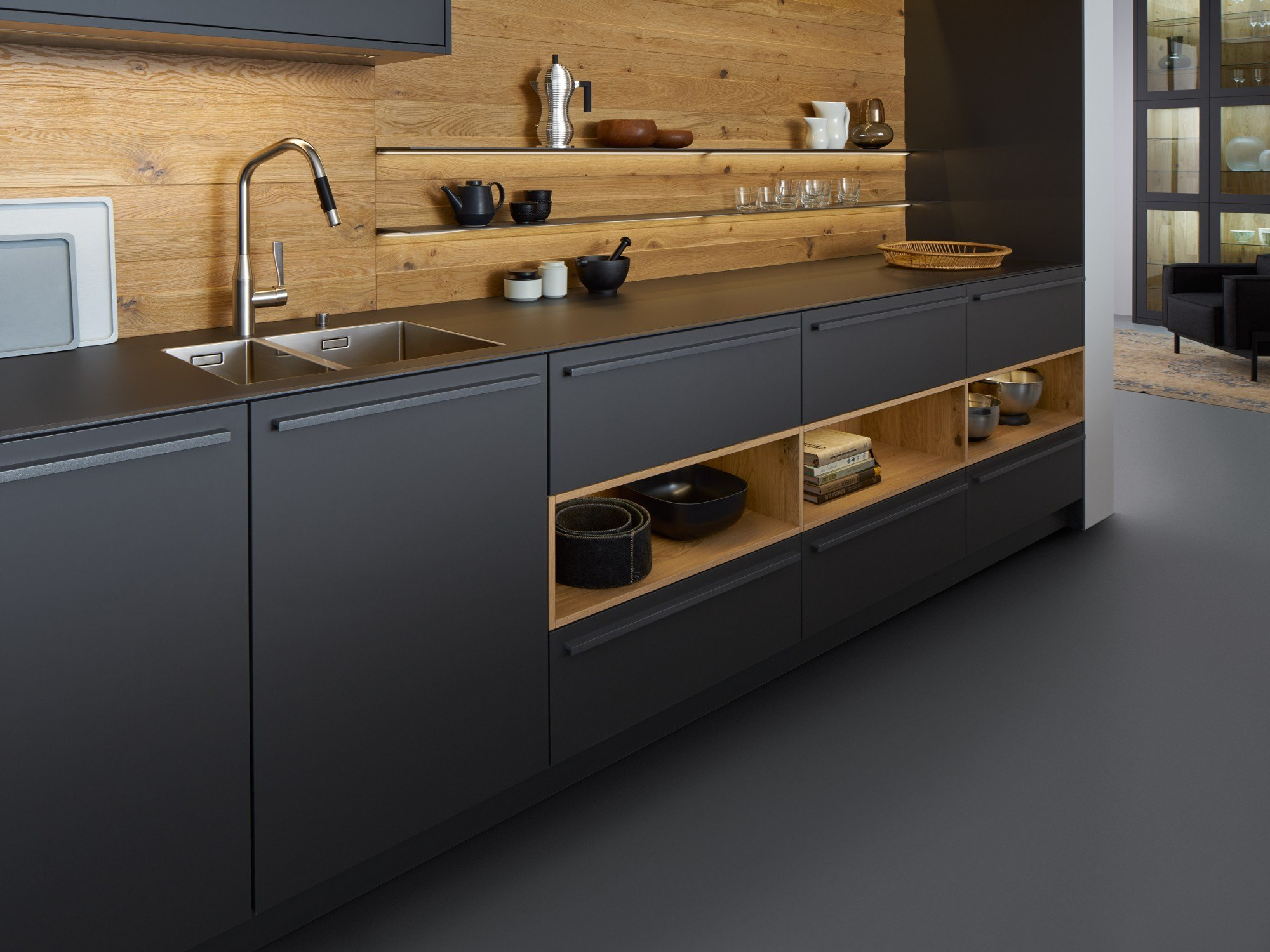 Solid wood kitchen with island BONDI | VALAIS By LEICHT Küchen | {Leicht küchen logo 48}