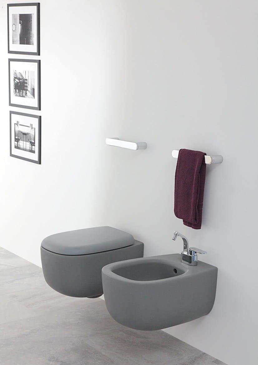 Bonola wall hung toilet by ceramica flaminia design jasper morrison - Flaminia sanitari bagno ...