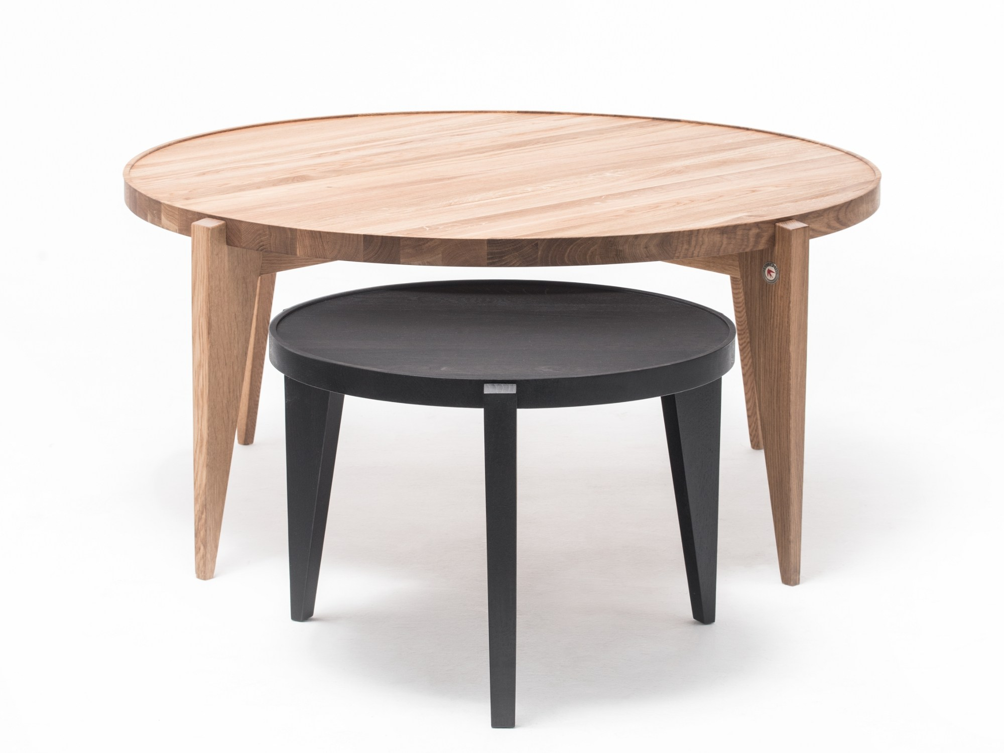 Round English Oak Coffee Table Bontri 110 By St Furniture