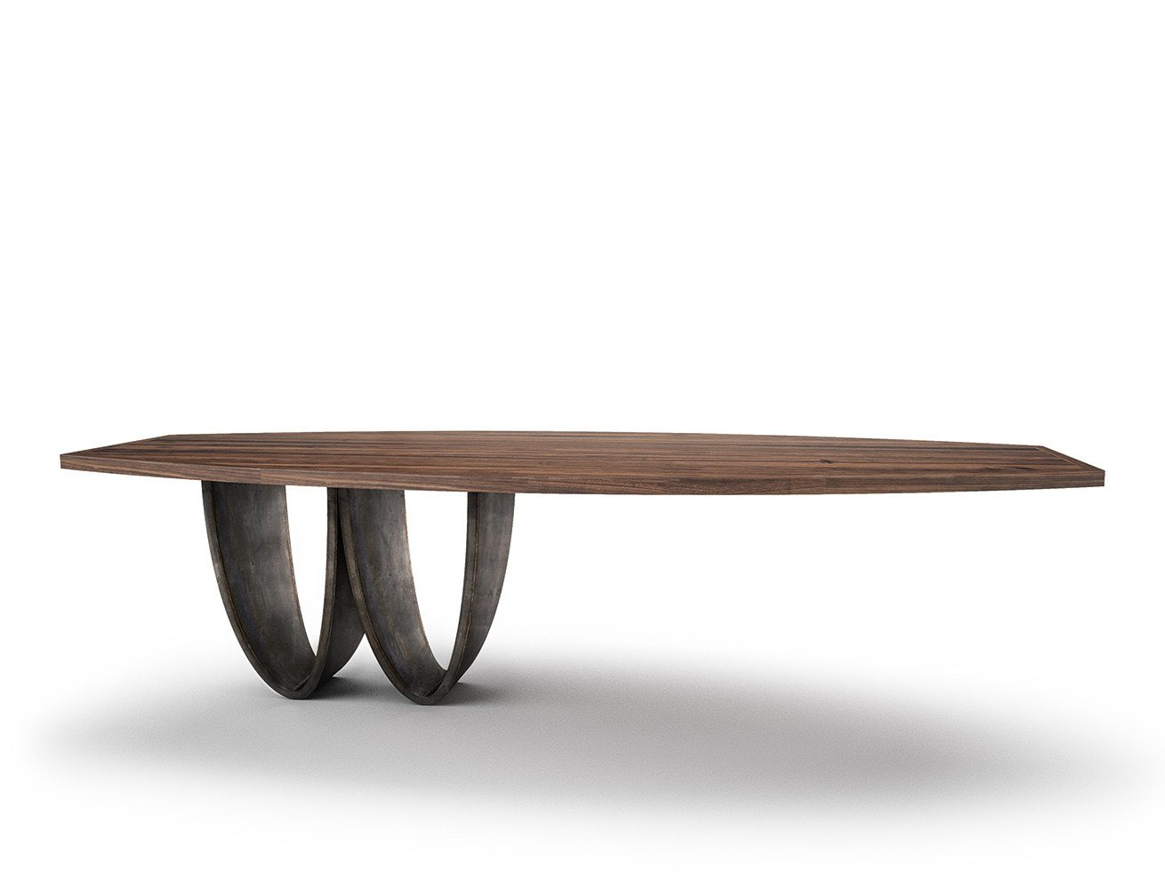 Solid wood dining table with steel base BOWI by Belfakto : BOWI Belfakto 281705 rele0895a42 from www.archiproducts.com size 1310 x 982 jpeg 78kB